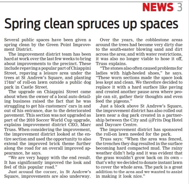 Spring clean spruces up spaces