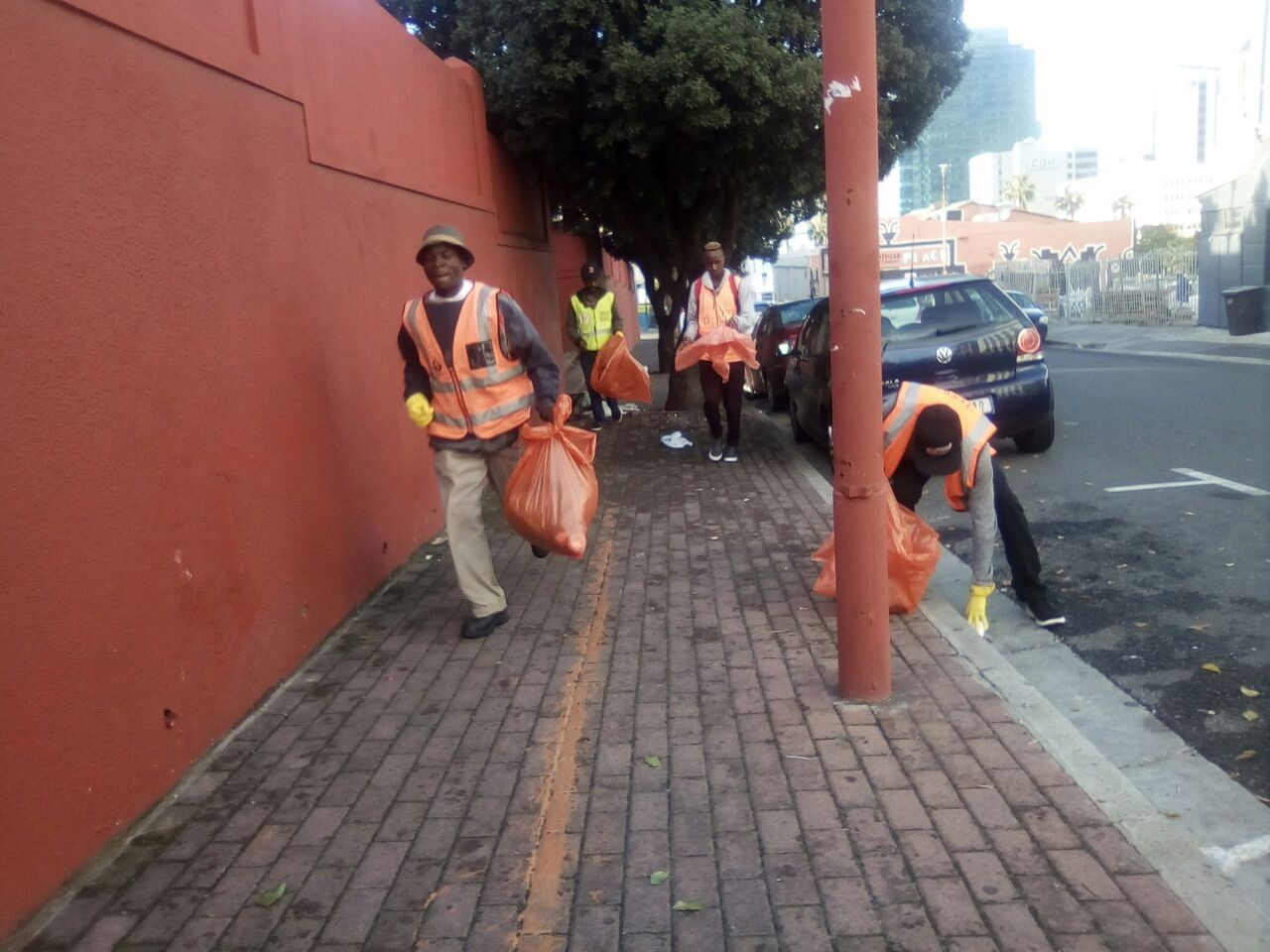 Sweating for clean streets