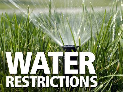 Reminder: Water restrictions implemented